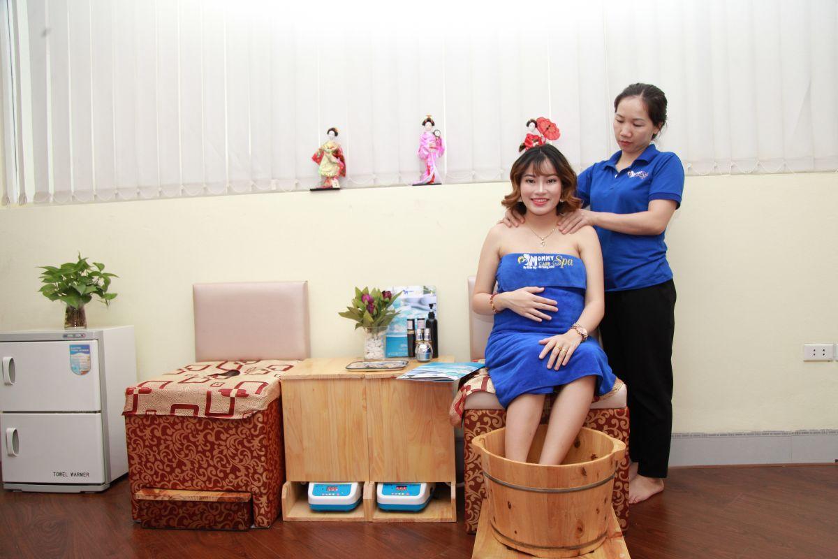 Chị Hiền chăm sóc tại Mommy Care Spa