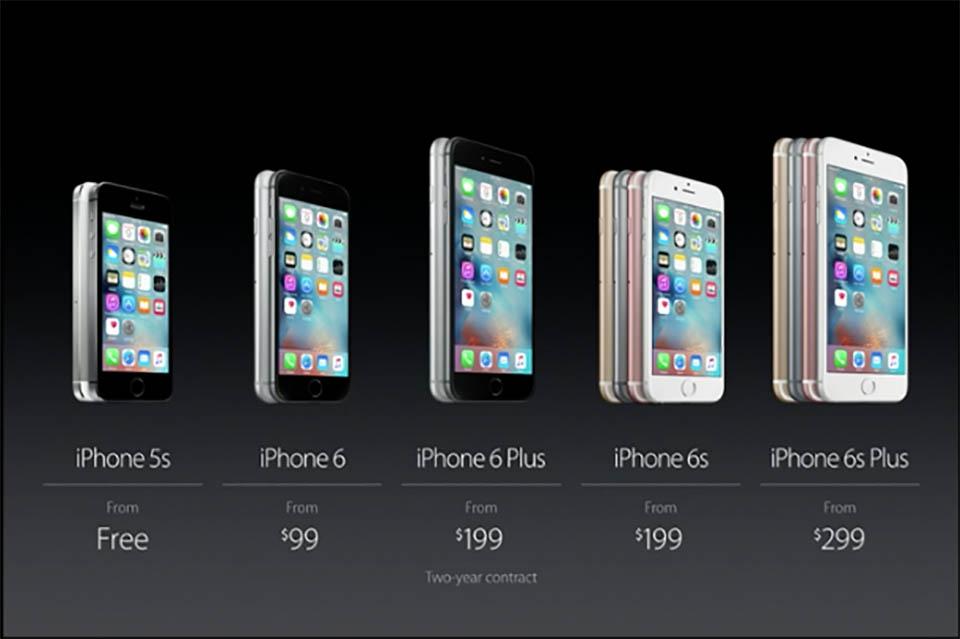 Chi tiết thời gian, địa điểm, giá bán iPhone 6s, 6s Plus