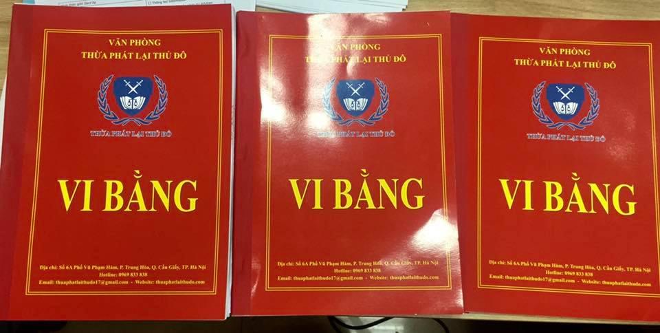 Sau khi mua sách tại 3 sàn TMĐT, First News đãlập vi bằng Thừa Phát Lại để tiến hành các bước pháp lýtiếp theo.