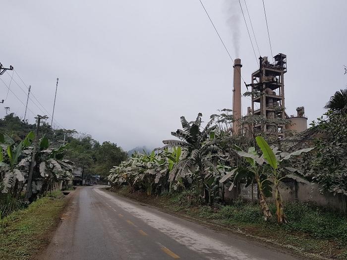 Hoạt động xả khói bụi của nhà máy đã diễn ra nhiều năm tại xã Tràng Đà, Tuyên Quang.