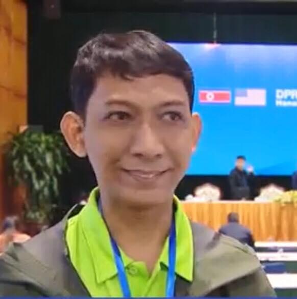 Anh Fadlan Arman Syam – Phóng viên Indonesia. Ảnh: Truyền hình Thông tấn.