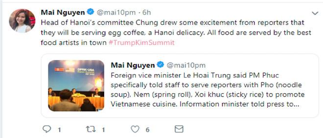Mai Nguyễn bày tỏ sự hào hứng khi sắp được thưởng thức những món ăn truyền thống Việt. Ảnh: Mai Nguyen.