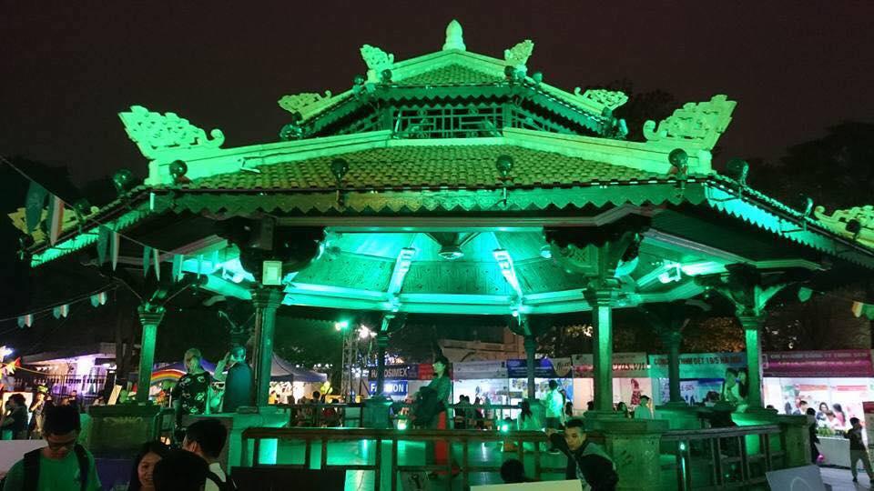 """Tháp Bút tại hồ Hoàn Kiếm sẽ được thắp đèn xanh hưởng ứng """"Chiến dịch Nhuộm xanh toàn cầu"""