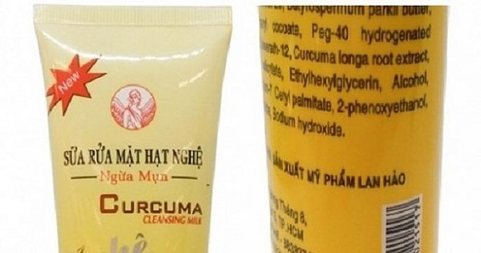 Cục Quản lý Dược, Bộ Y tế yêu cầu thu hồi lô sữa rửa mặt hạt nghệ ngừa mụn không đạt chất lượng