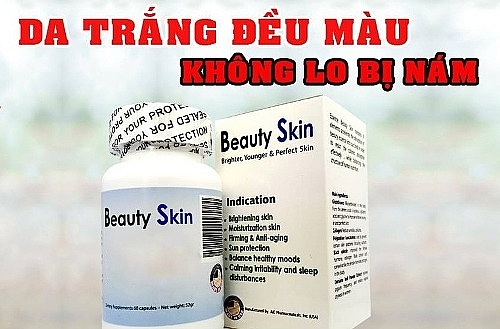 can trong voi thong tin quang cao san pham more milk plus double white beauty skin tren mot so website