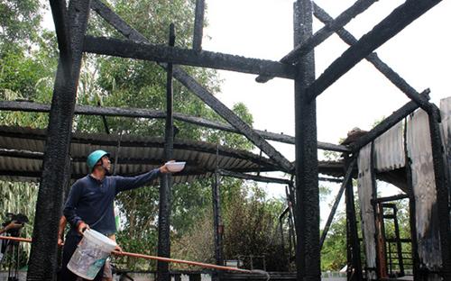 Phú Yên: Hỏa hoạn thiêu rụi một ngôi chùa