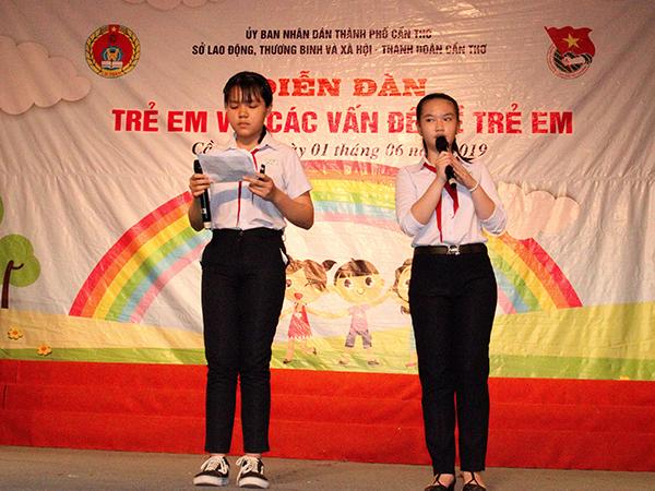 TP. Cần Thơ phát động Tháng hành động vì trẻ em và tổ chức 'Diễn đàn trẻ em thành phố 2019