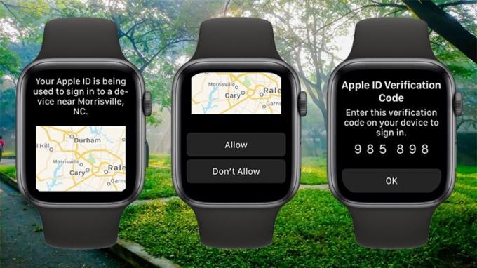 Mã bảo mật Apple ID nay đã hiển thị trên Apple Watch chạy watchOS 6