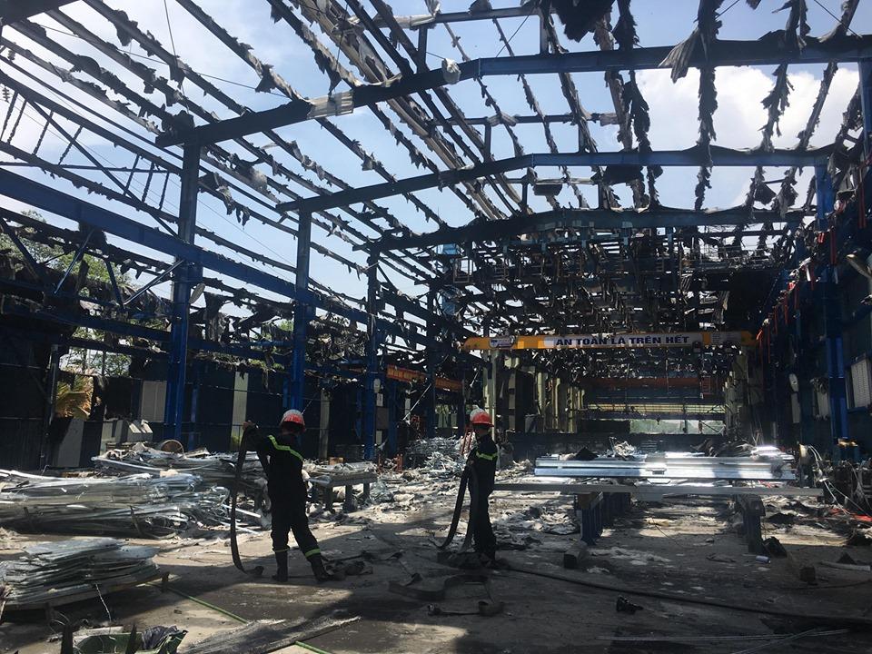Phú Thọ: Hỏa hoạn tại Công ty Cổ phần Việt Vương