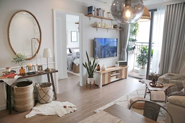 Cặp vợ chồng trẻ tự thiết kế căn hộ 75m2 sang chảnh với chi phí 400 triệu đồng