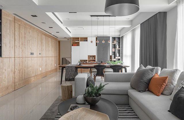 Cách tăng diện tích nhà hẹp bằng thiết kế tủ âm tường