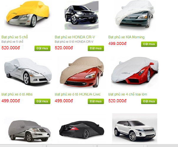 Hiện nay thị trường có bán rất nhiều tấm bạt che xe khác nhau để che chắn xe khi bắt buộc phải đỗ ngoài trời