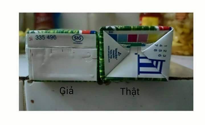 [Hình ảnh] Cách phân biệt các sản phẩm tiêu dùng thật và giả