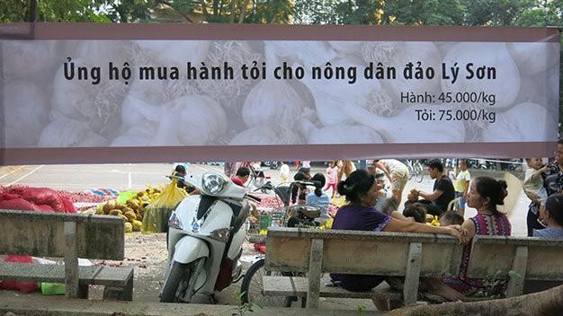 Có thật sự hành tỏi bán đổ đống ở Hà Nội là của Lý Sơn?