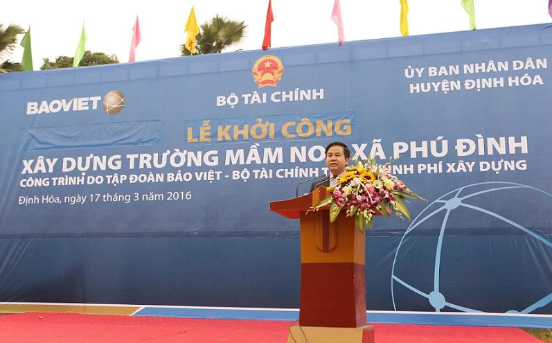 Bảo Việt đầu tư 7 tỷ đồng xây dựng trường mầm non tại Phú Đình, Thái Nguyên