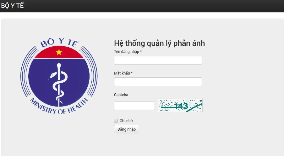 Bộ Y tế thử nghiệm website đường dây nóng