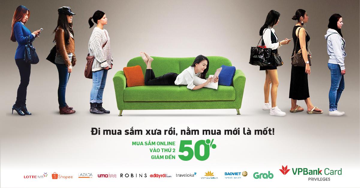 Mua sắm online - Giảm giá đến 50% Thứ hai hàng tuần