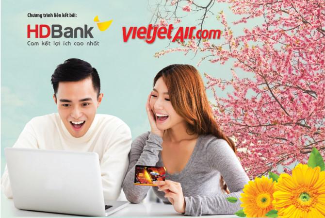 Ưu đãi giảm giá vé cho khách hàng mở mới thẻ visa HDBank