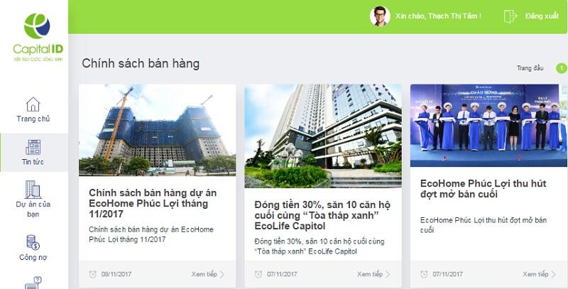 Capital House ra mắt website hỗ trợ khách hàng