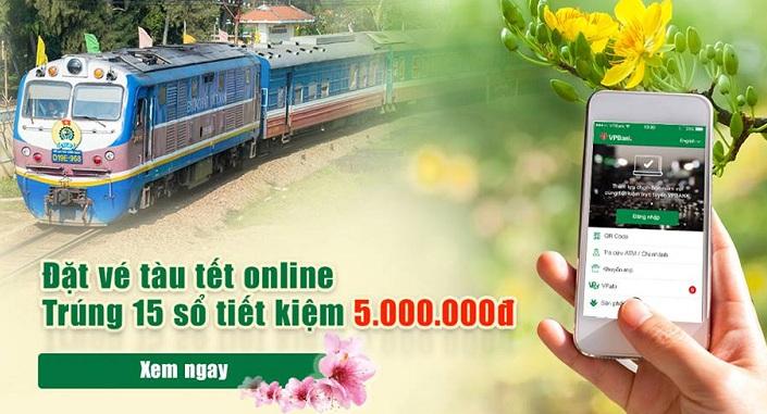 Đặt vé trực tuyến, trúng sổ tiết kiệm online