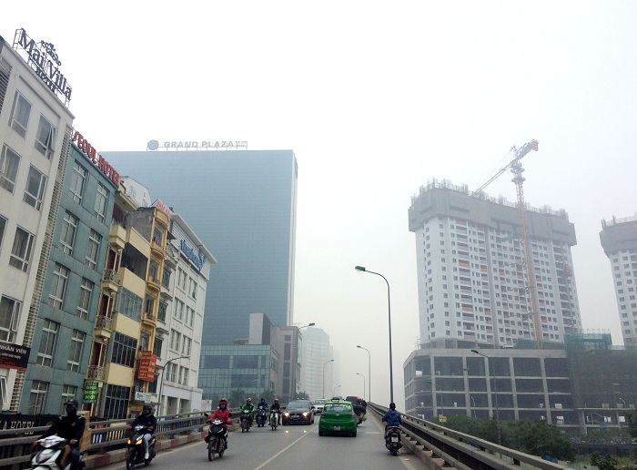 Hà Nội sương mù và khói bụi