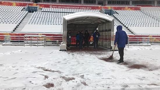 Tuyết đang rơi dày đặc ở thành phố Thường Châu. Ảnh: T.Phùng