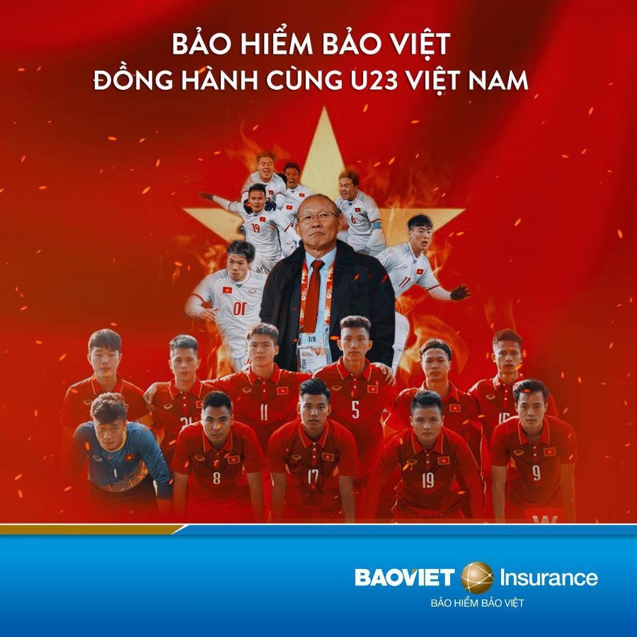 Tổng công ty Bảo hiểm Bảo Việt đồng hành cùng đội tuyển bóng đá Việt Nam U23