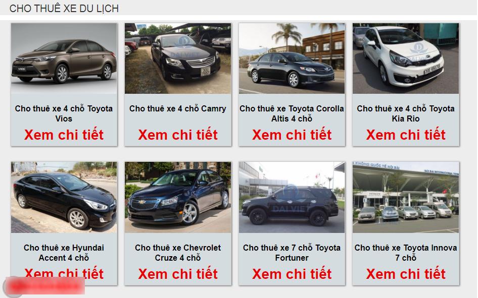 Dịch vụ thuê xe ô tô tự lái