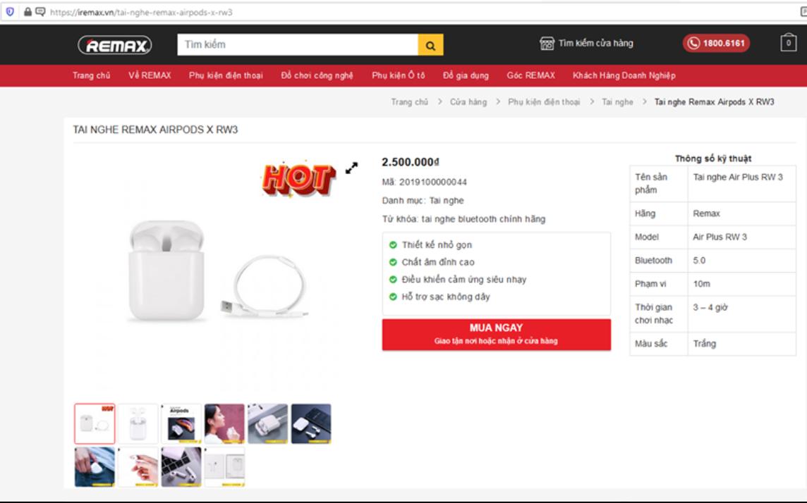 Remax Airpods sở hữu thiết kế giống hệt tai nghe của Apple?