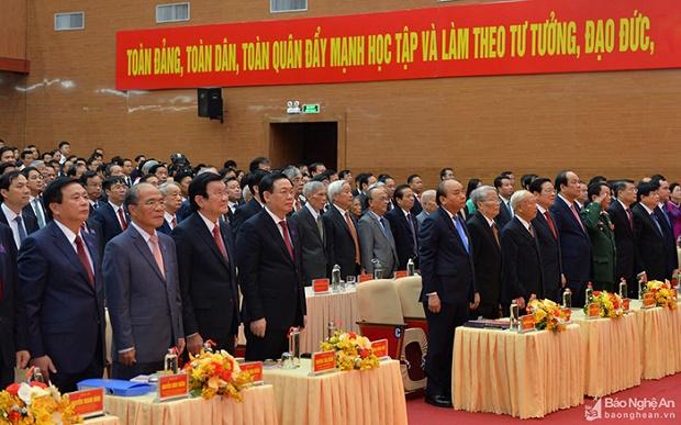 Bí thư Thành ủy Hà Nội dự khai mạc Đại hội Đảng bộ tỉnh Nghệ An lần thứ XIX