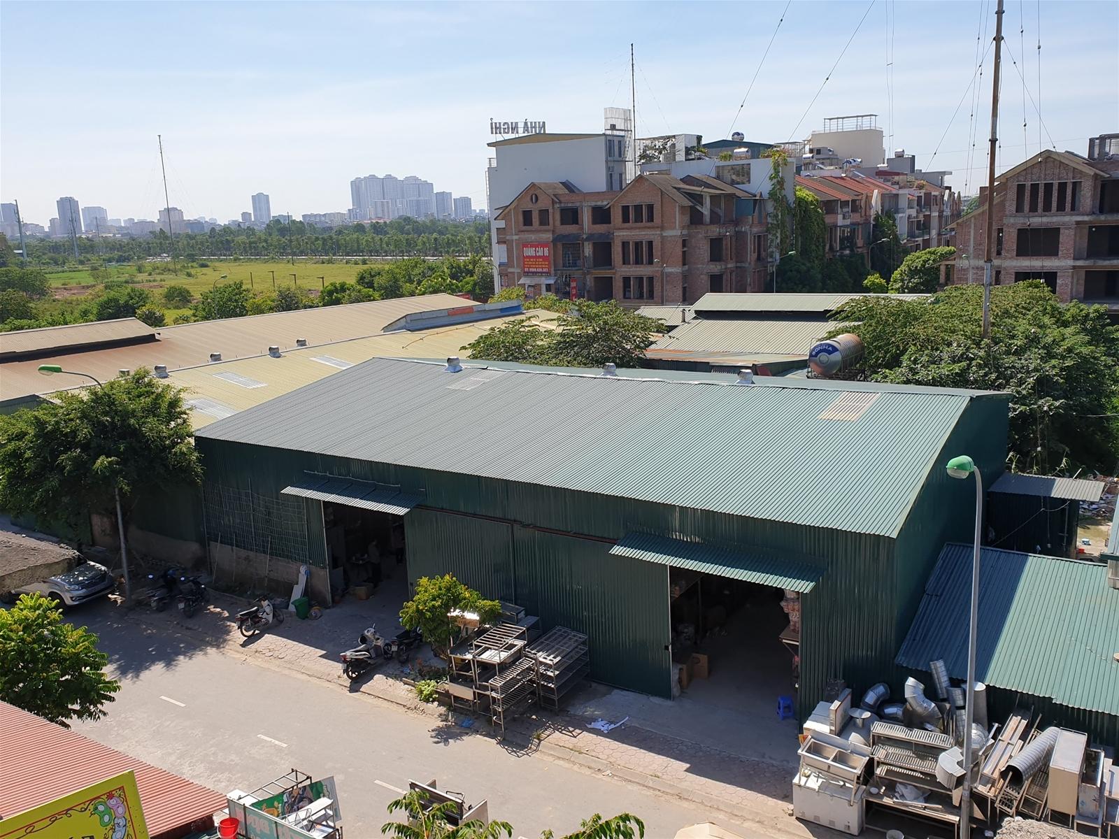Thanh Trì: Loạt Kiot, nhà xưởng sai quy hoạch trong Khu nhà ở Liền kề Tổng cục V