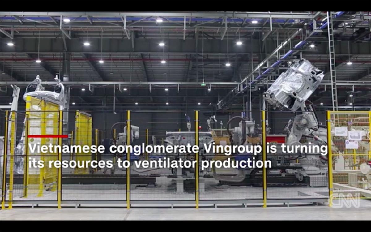 Vingroup trở thành điểm nhấn mới của Việt Nam trong việc chống đại dịch toàn cầu