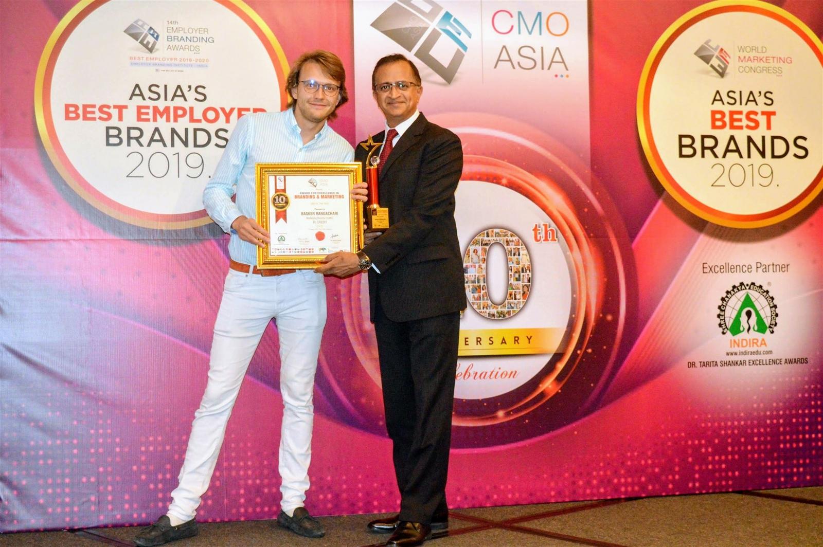 FE Credit ghi dấu thêm 3 giải thưởng tại Lễ trao giải CMO Asia 2019