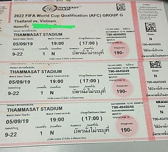 """Choáng với giá vé """"chợ đen"""" trận đấu giữa Việt Nam và Thái Lan"""