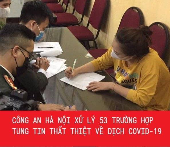 Hà Nội xử lý 53 trường hợp tung tin sai sự thật về dịch Covid-19