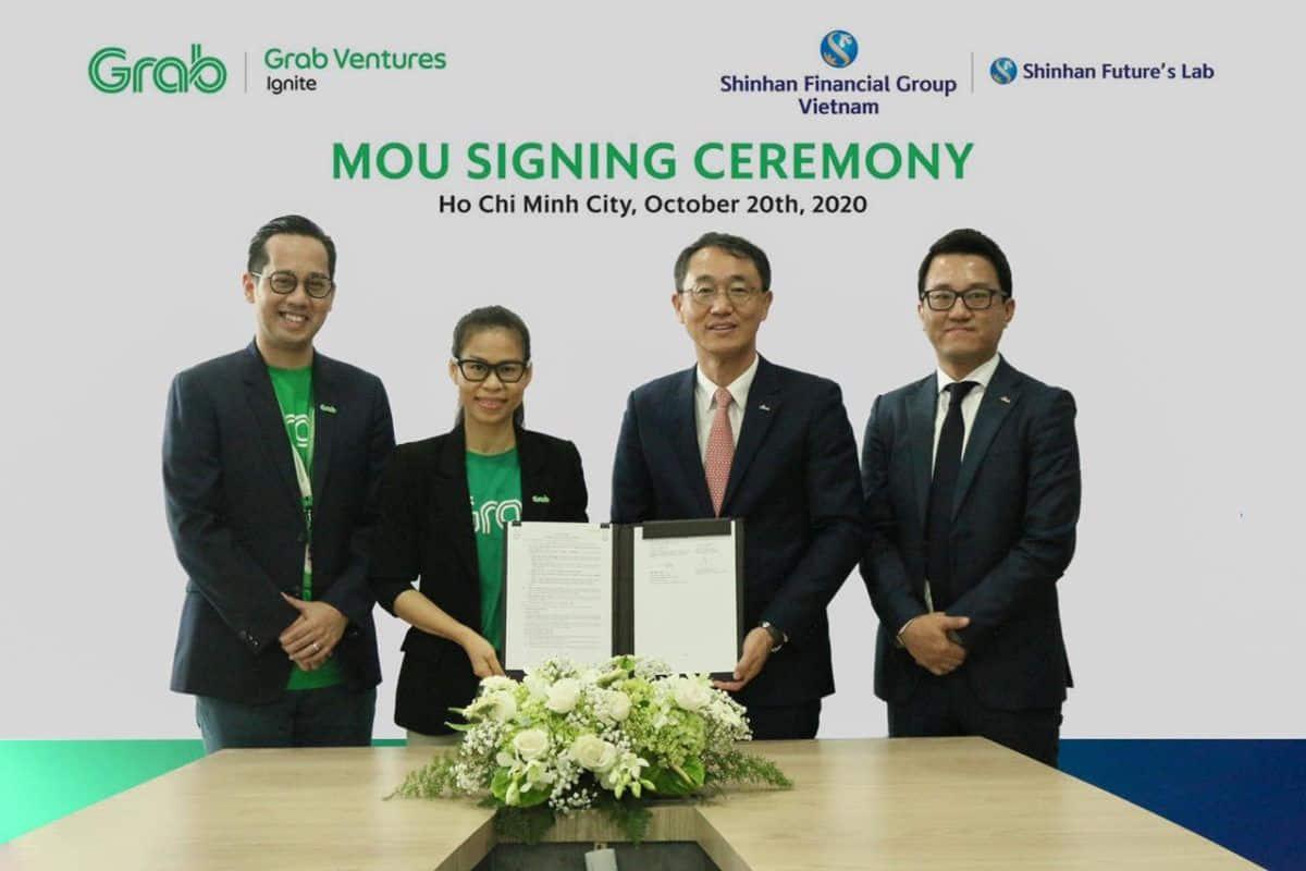 Tập đoàn Shinhan và Grab Việt Nam ký kết thỏa thuận hợp tác chiến lược