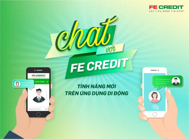FE Credit thêm tính năng nhắn tin trực tuyến miễn phí trên ứng dụng