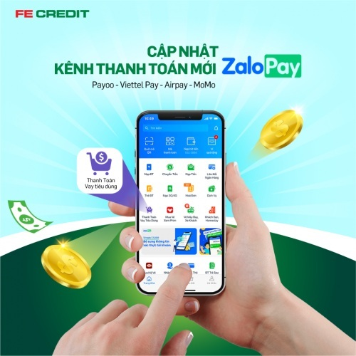 Khách hàng FE Credit thanh toán khoản vay dễ dàng qua ứng dụng ZaloPay