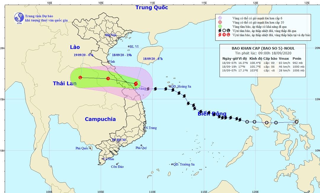 Bão số 5 suy yếu thành áp thấp nhiệt đới, cảnh báo mưa lớn và gió mạnh