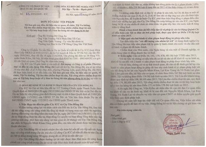 """Tranh chấp tại dự án 317 Trường Chinh: Vì sao lãnh đạo Công ty Tân Hồng Hà bị tố """"Lừa đảo chiếm đoạt tài sản"""