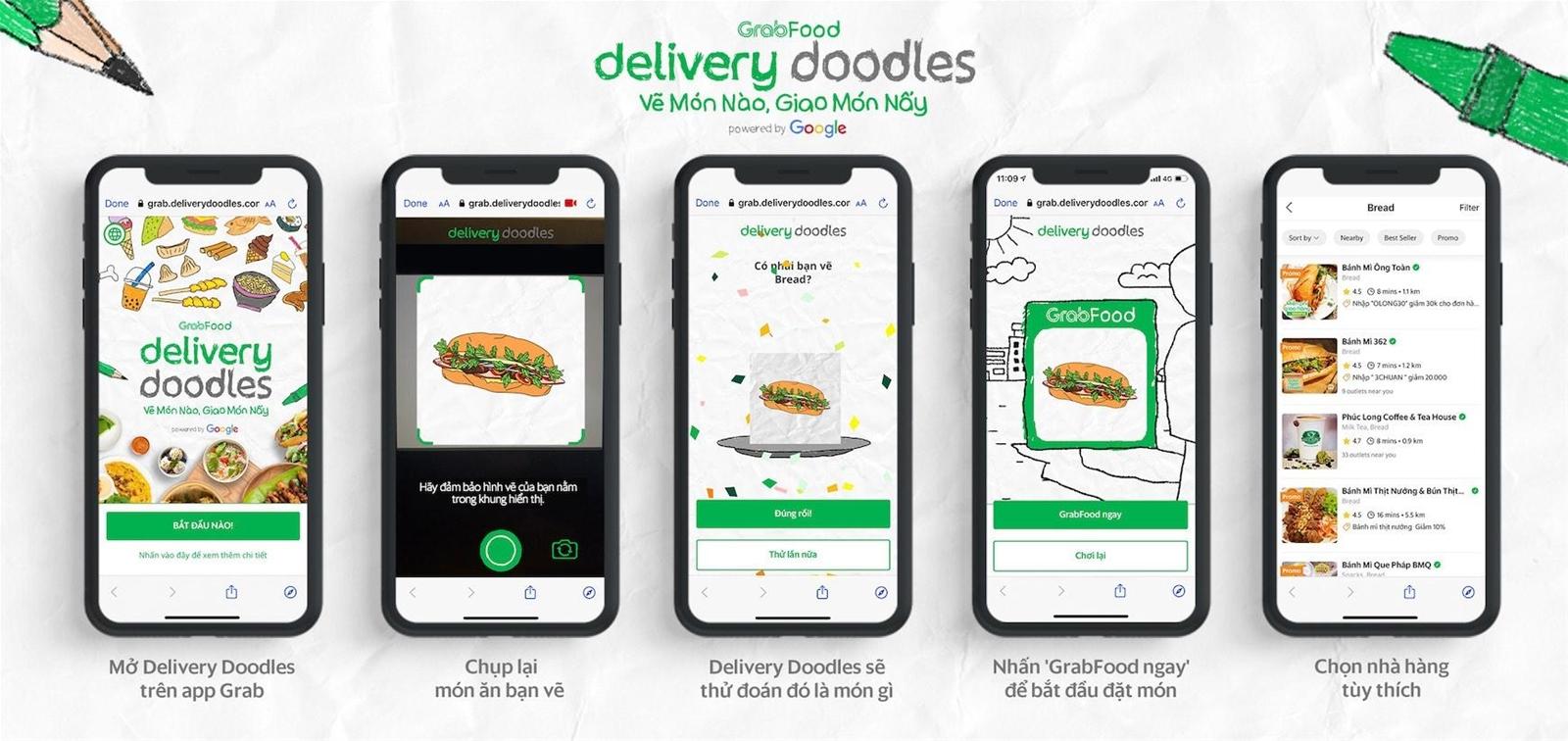 Grab ra mắt Delivery Doodles, biến nét vẽ nghịch ngợm của trẻ thành món ăn