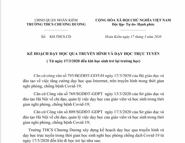 Hà Nội: Các trường công rục rịch triển khai dạy học trực tuyến