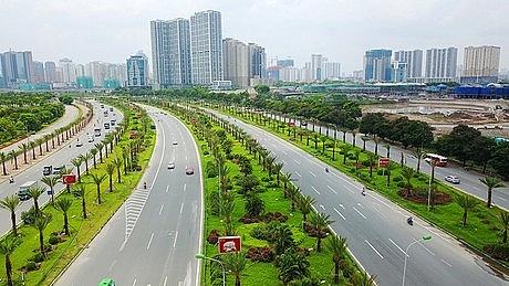 Hà Nội phân luồng giao thông để sửa chữa mặt đường chính Đại lộ Thăng Long