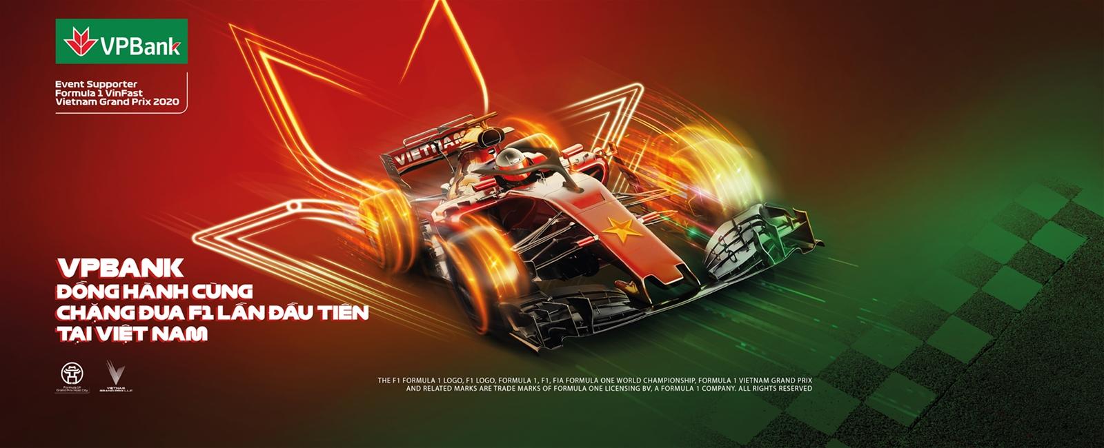 VPBank tặng vé cho khách hàng tham dự giải đua xe F1 Việt Nam Grand Prix