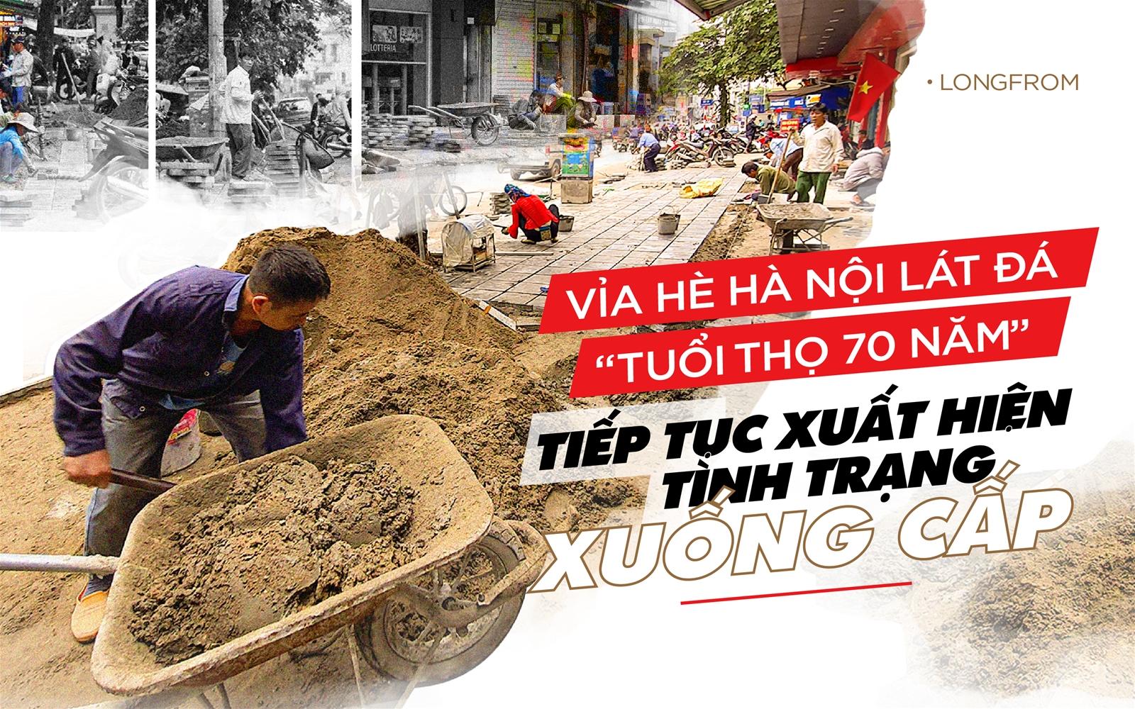 """Hà Nội: Làm thế nào để đá lát vỉa hè """"tuổi thọ 70 năm"""" thực sự có tác dụng?"""