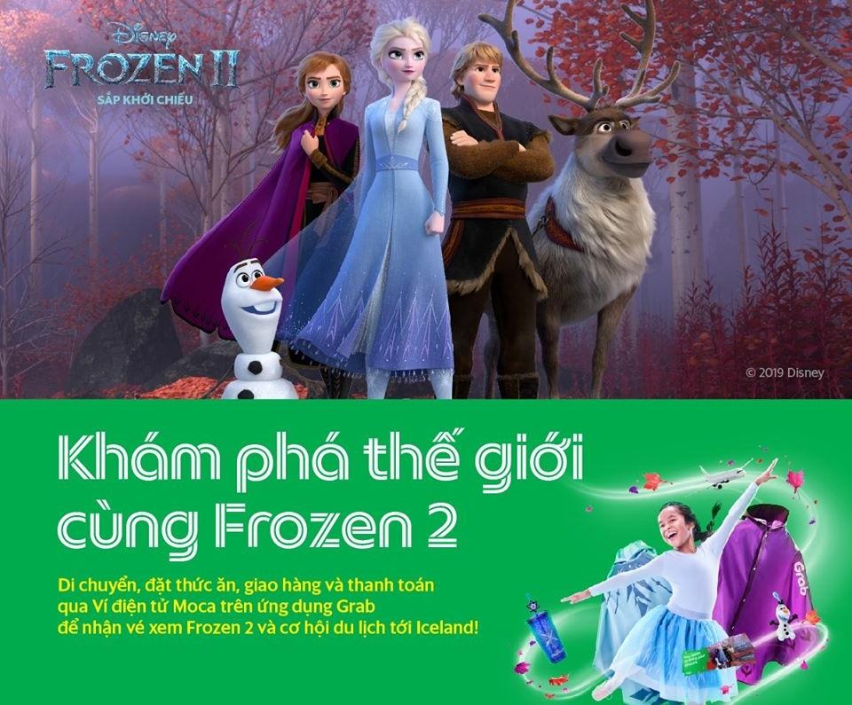 Grab cập nhật ứng dụng, nhanh chóng 'bắt trend' Frozen 2