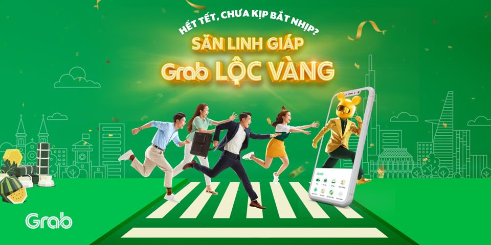 """Grab tung Thử thách """"Săn Linh Giáp, Grab Lộc Vàng"""""""