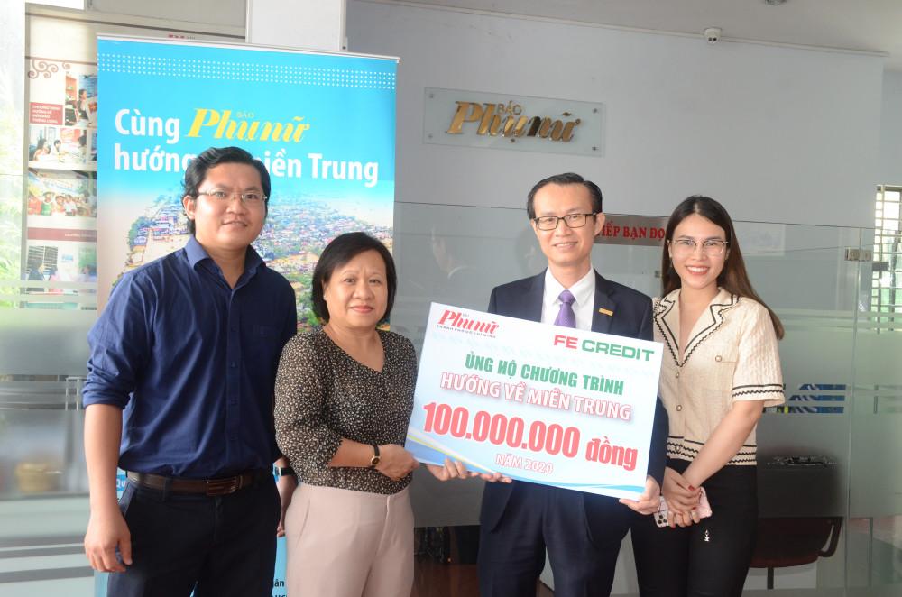 FE Credit ủng hộ đồng bào miền Trung lũ lụt 100 triệu đồng