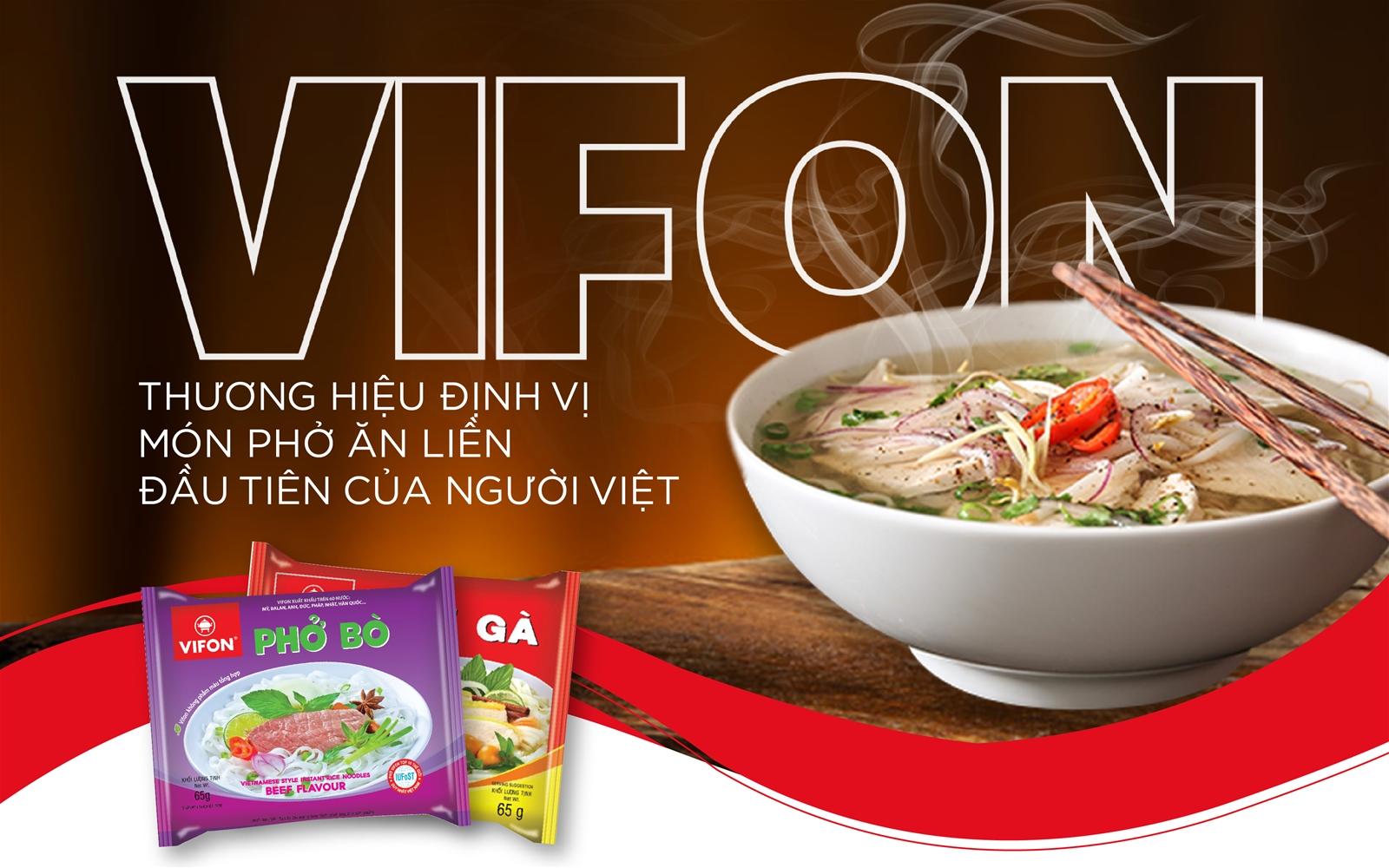 VIFON: Thương hiệu định vị món phở ăn liền đầu tiên của người Việt