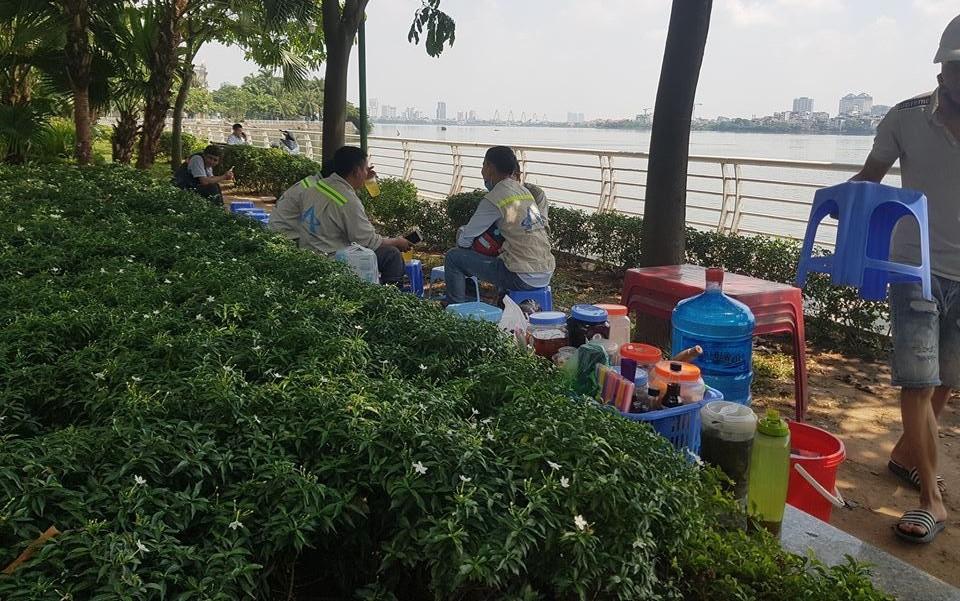 Lấn chiếm vỉa hè, vườn hoa quận Tây Hồ: Mệnh lệnh 10 ngày tạm dừng?!